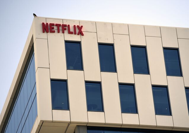 Netflix headquarters in the Hollywood section of Los Angeles is pictured, Monday, May 4, 2020