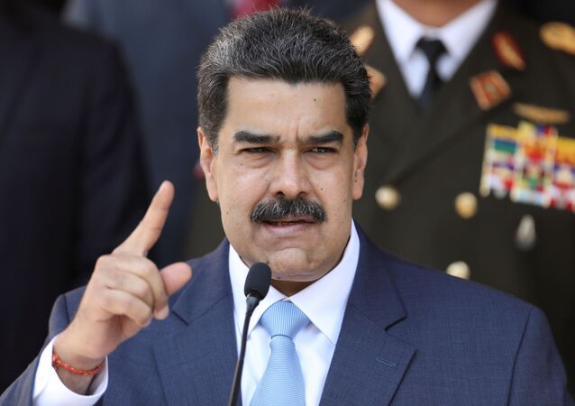 Venezuela's President Nicolas Maduro speaks during a news conference at Miraflores Palace in Caracas, Venezuela, March 12, 2020