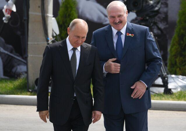 President of Russia Vladimir Putin and President of Belarus Alexander Lukashenko (File)