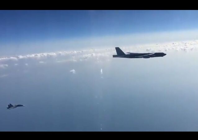 Russian fighters scrambled to intercept US strategic fighters over the Black Sea on 14 September