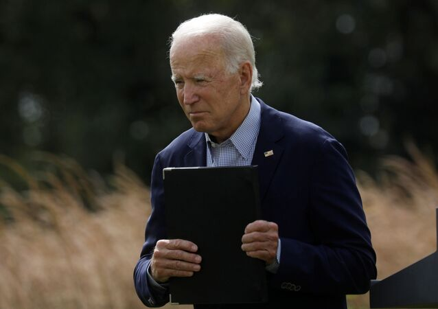 Democratic U.S. presidential nominee and former Vice President Joe Biden departs after speaking about climate change during a campaign event at the Delaware Museum of Natural History in Wilmington, Delaware, U.S., September 14, 2020.