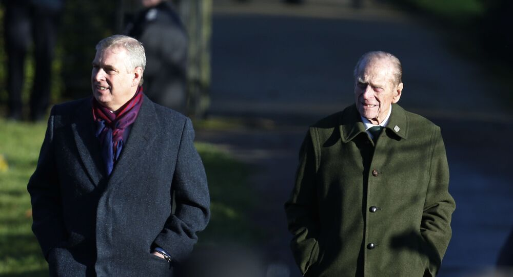 Britain's Prince Andrew, left, and Prince Philip, arrive to attend a Christmas Day Service with other members of the royal family at St. Mary's church on the grounds of Sandringham Estate, the Queen's retreat, in Norfolk, England, Wednesday, Dec. 25, 2013