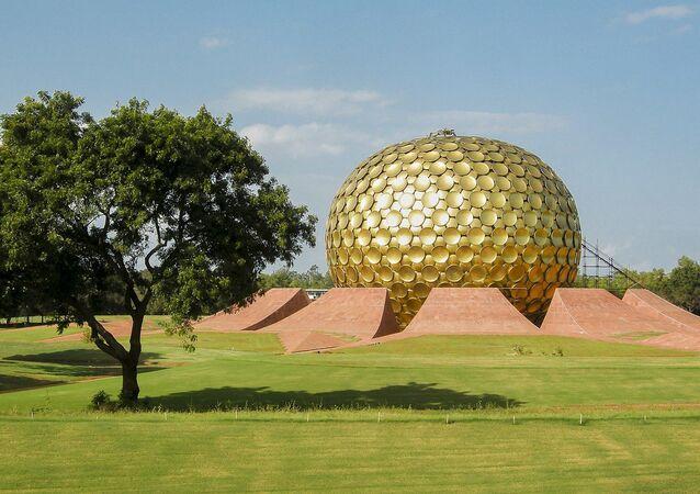 The Matrimandir in Auroville, Tamil Nadu, India