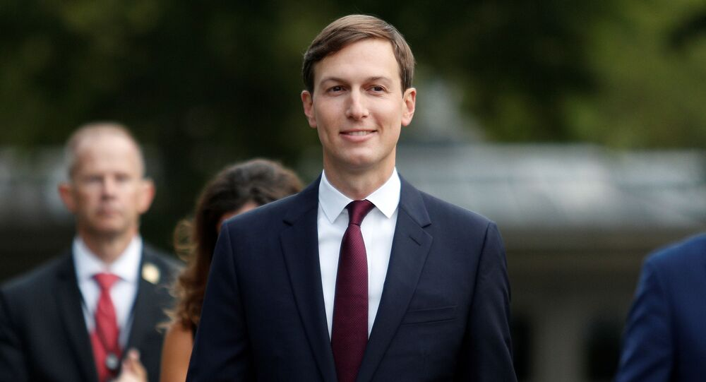 White House Senior Advisor Jared Kushner walks away following a television interview on the North Lawn at the White House in Washington, U.S., September 15, 2020.