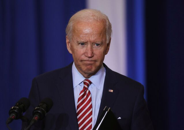 Democratic U.S. presidential nominee Joe Biden speaks at a Hispanic Heritage Month event at Osceola Heritage Park in Kissimmee, Florida, U.S., September 15, 2020.