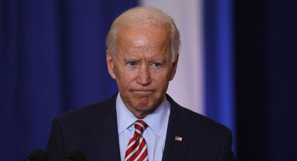Democratic U.S. presidential nominee Joe Biden speaks at a Hispanic Heritage Month event at Osceola Heritage Park in Kissimmee, Florida, U.S., September 15, 2020.