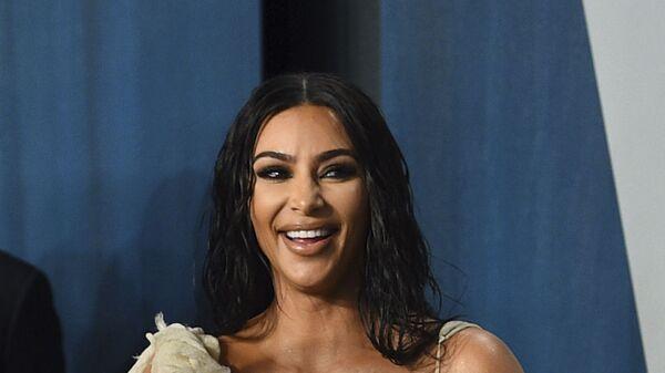 Kim Kardashian arrives at the Vanity Fair Oscar Party on Sunday, Feb. 9, 2020, in Beverly Hills, Calif - Sputnik International