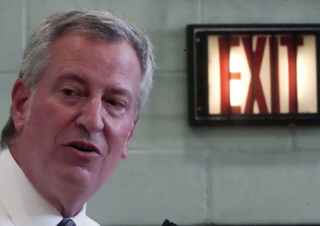 New York City Mayor Bill de Blasio speaks at a news conference after a tour of P.S. 59 following the coronavirus outbreak in Brooklyn, New York City, New York, U.S., September 2, 2020.