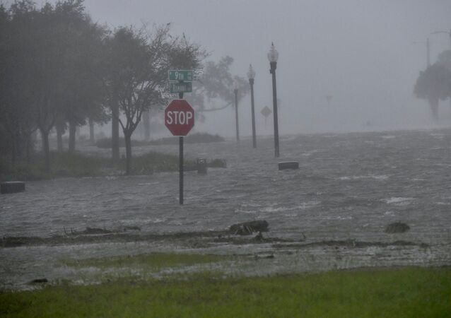 Flooding due to Hurricane Sally is seen in Pensacola, Florida, U.S. September 16, 2020.