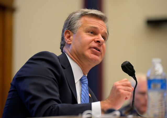 FBI director Christopher Wray testifies during a hearing about 'worldwide threats to the homeland' in the Rayburn House Office Building on Capitol Hill in Washington, U.S., September 17, 2020.