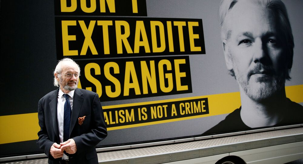 WikiLeaks founder Julian Assange's father John Shipton is seen outside the Old Bailey, London's Central Criminal Court, ahead of a hearing to decide whether Assange should be extradited to the United States, 8 September 2020.