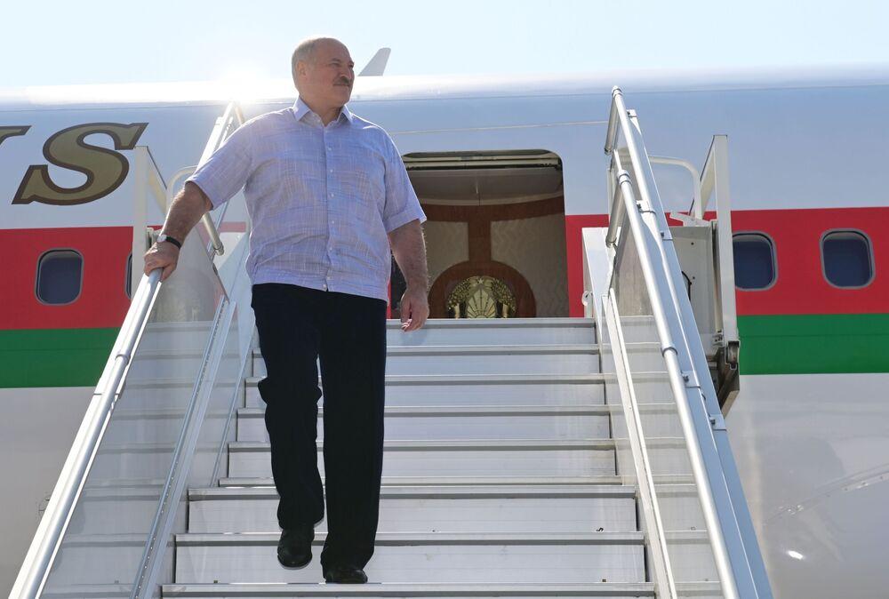 President of Belarus Alexander Lukashenko at Sochi airport