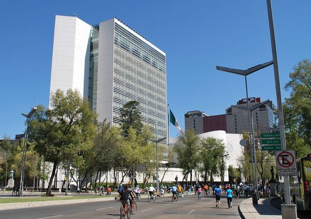 New Senate building on Paseo de la Reforma and Insurgentes in Mexico City