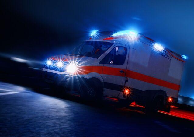 German ambulance, rettungswagen