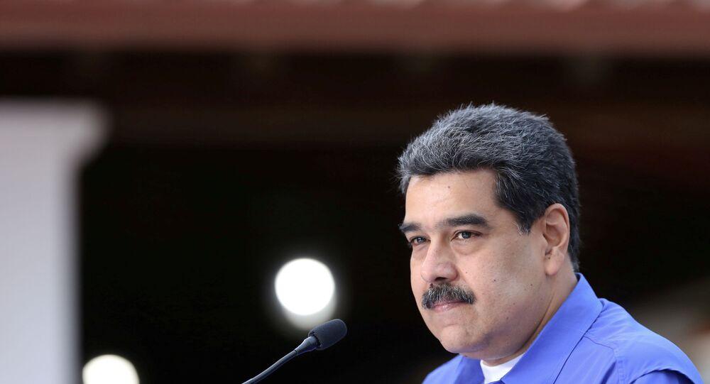 Venezuela's President Nicolas Maduro speaks during an event with the youth of Venezuela's United Socialist Party in Caracas, Venezuela, June 22, 2020.