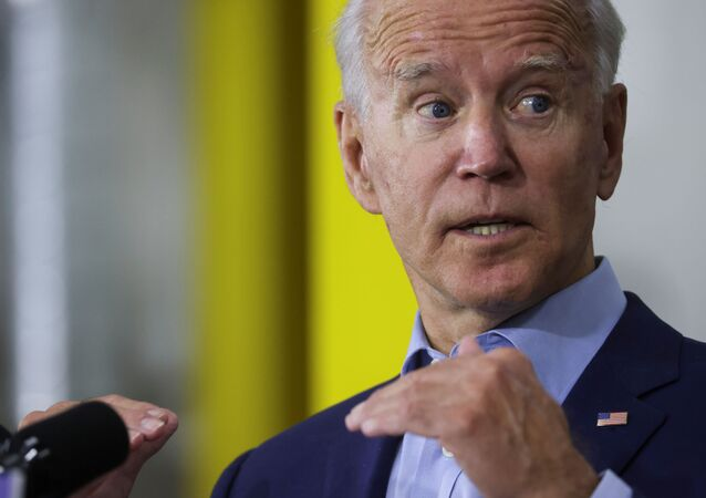 Democratic U.S. presidential nominee and former Vice President Joe Biden speaks to union carpenters and reporters during a campaign event at the Jerry Alander Carpenter Training Center in Hermantown, a suburb of Duluth, Minnesota, U.S., September 18, 2020.