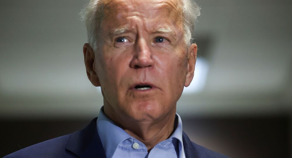 Democratic U.S. presidential nominee and former Vice President Joe Biden speaks about the death of U.S. Supreme Court Associate Justice Ruth Bader Ginsburg shortly after Biden arrived from campaign events in Minnesota at New Castle Airport in New Castle, Delaware, U.S., September 18, 2020.