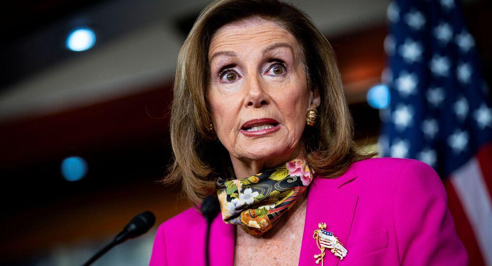 U.S. House Speaker Nancy Pelosi (D-CA) speaks during a news conference on Capitol Hill in Washington, U.S., September 18, 2020.
