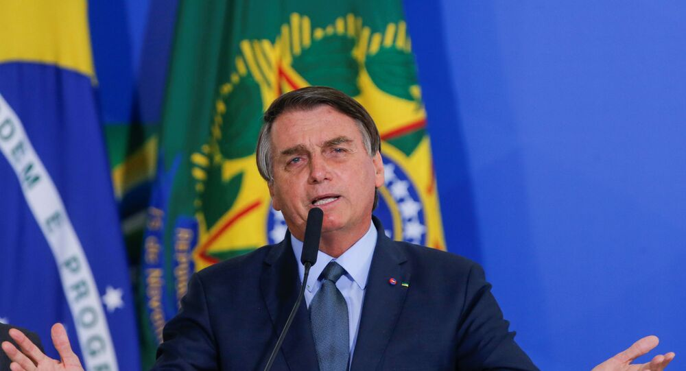 Brazil's President Jair Bolsonaro speaks during an inauguration ceremony of the new Health Minister Eduardo Pazuello (not pictured) at the Planalto Palace in Brasilia, Brazil, September 16, 2020.