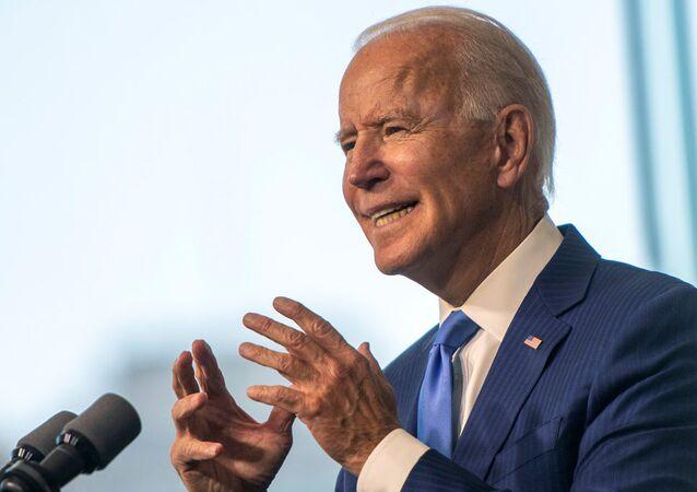 Democratic U.S. presidential nominee and former Vice President Joe Biden delivers remarks regarding the Supreme Court at the National Constitution Center in Philadelphia, Pennsylvania, U.S., September 20, 2020.