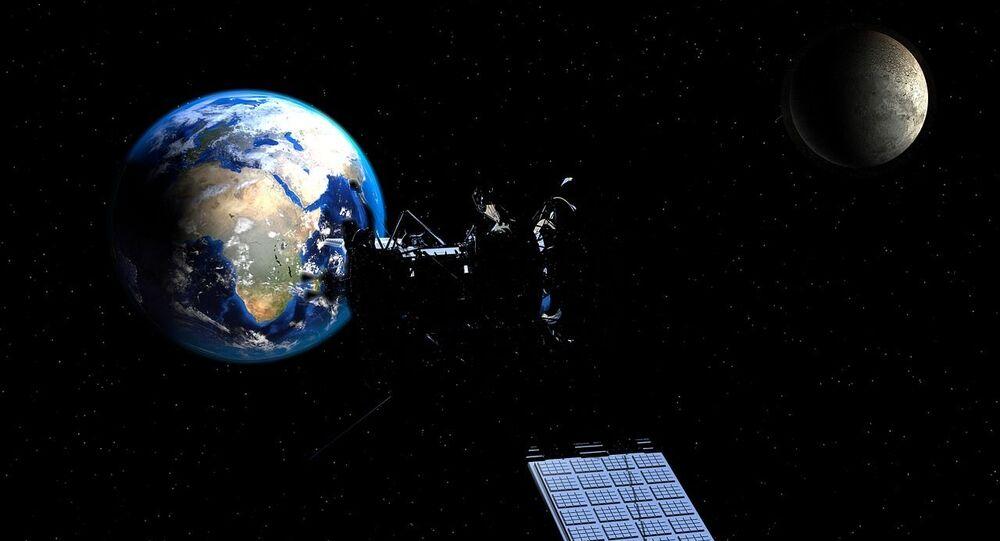 Satellite Moon Earth