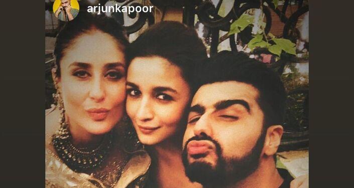 Kareena Kapoor Khan with Alia Bhatt and Arjun Kapoor
