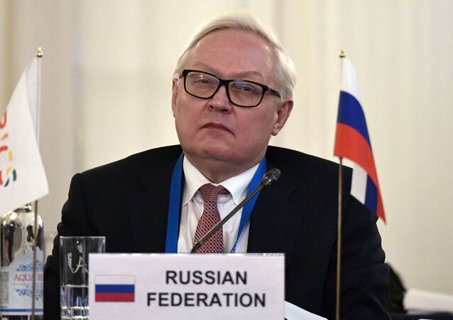 Russia's Deputy Foreign Minister, Sherpa in BRICS, Sergei Ryabkov, at the 1st meeting of Sherpas/Sous-Sherpas of the BRICS countries in St. Petersburg.