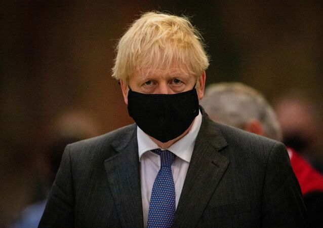 Britain's Prime Minister Boris Johnson attends a service to mark the 80th anniversary of the Battle of Britain at Westminster Abbey in London, Britain September 20, 2020.