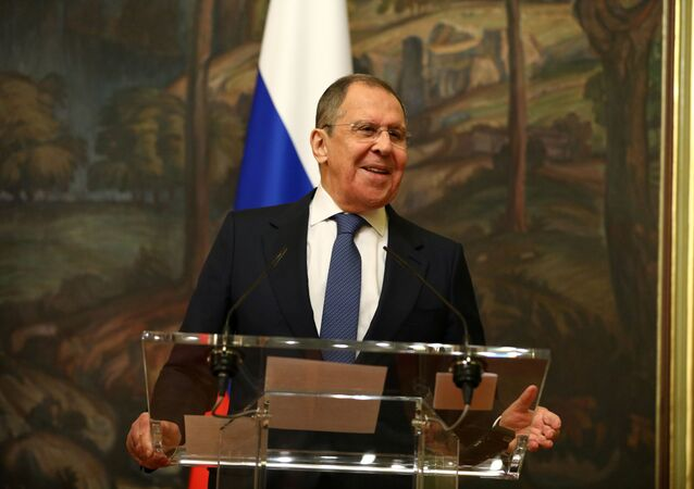 Russia's Foreign Minister Sergei Lavrov attends a news briefing after a meeting with China's State Councilor Wang Yi  in Moscow, Russia September 11, 2020.