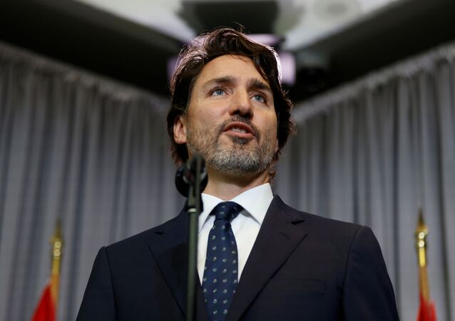 Canada's Prime Minister Justin Trudeau speaks during a news conference at a cabinet retreat in Ottawa, Ontario, Canada September 14, 2020.