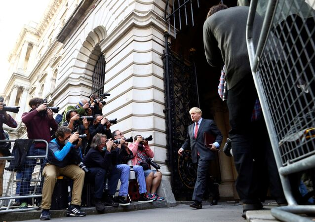 Britain's Prime Minister Boris Johnson leaves after a cabinet meeting, in London, Britain, September 22, 2020