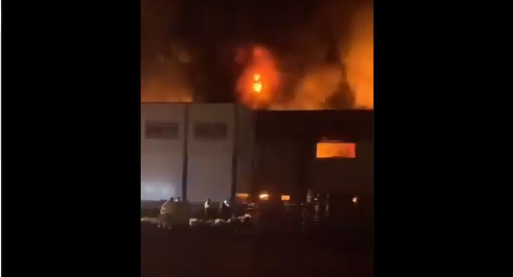 A fire at Iranian dairy factory