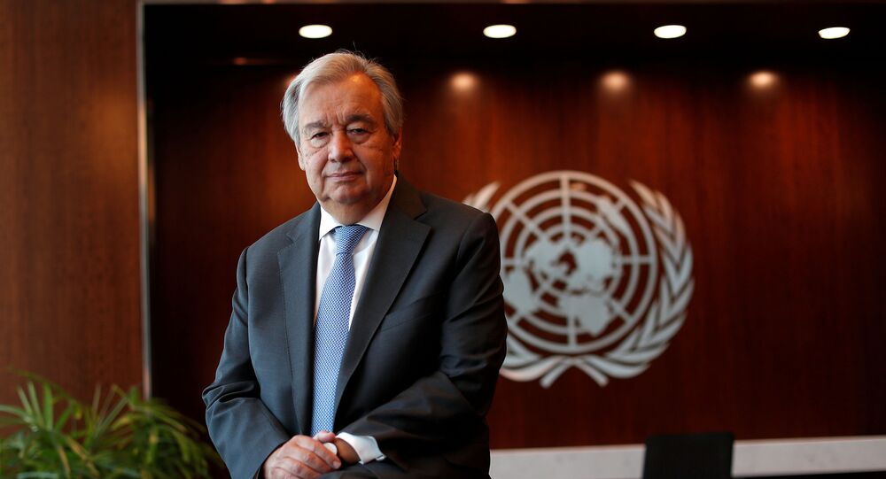 United Nations Secretary-General Antonio Guterres poses for a photograph during an interview with Reuters at U.N. headquarters in New York City, New York, U.S., September 14, 2020