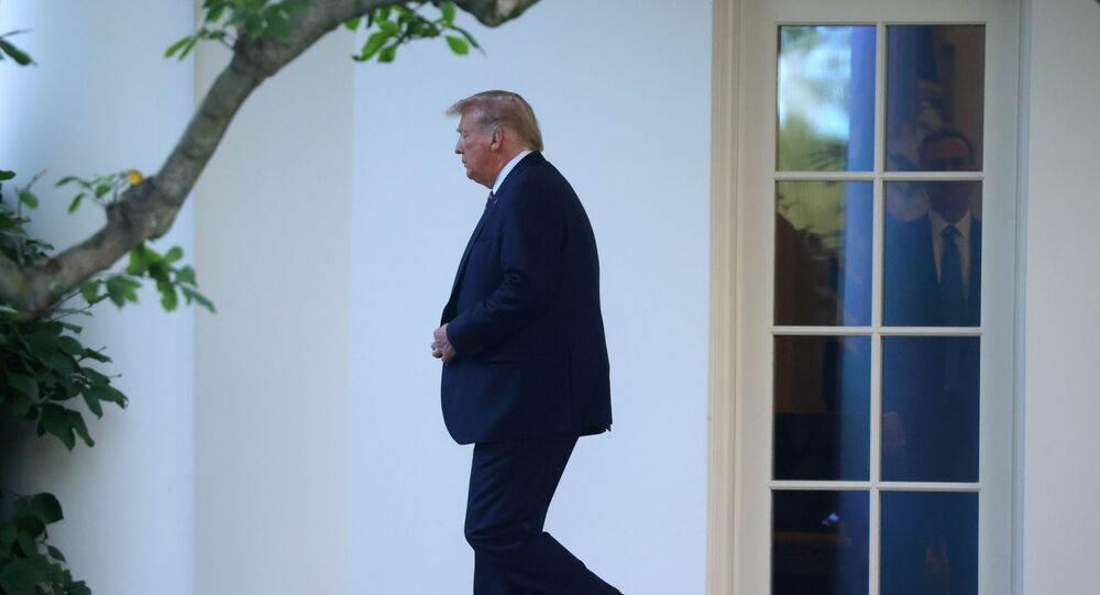 U.S. President Donald Trump departs for campaign travel to Pennsylvania from the South Lawn at the White House in Washington, U.S., September 22, 2020.