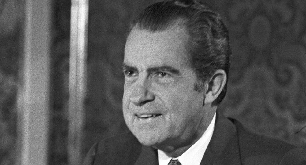 Former US President Richard Nixon in USSR