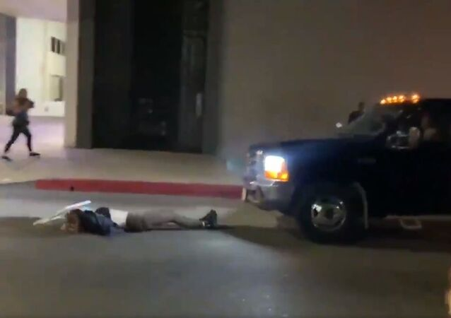 Protesters get struck by car during Hollywood protest