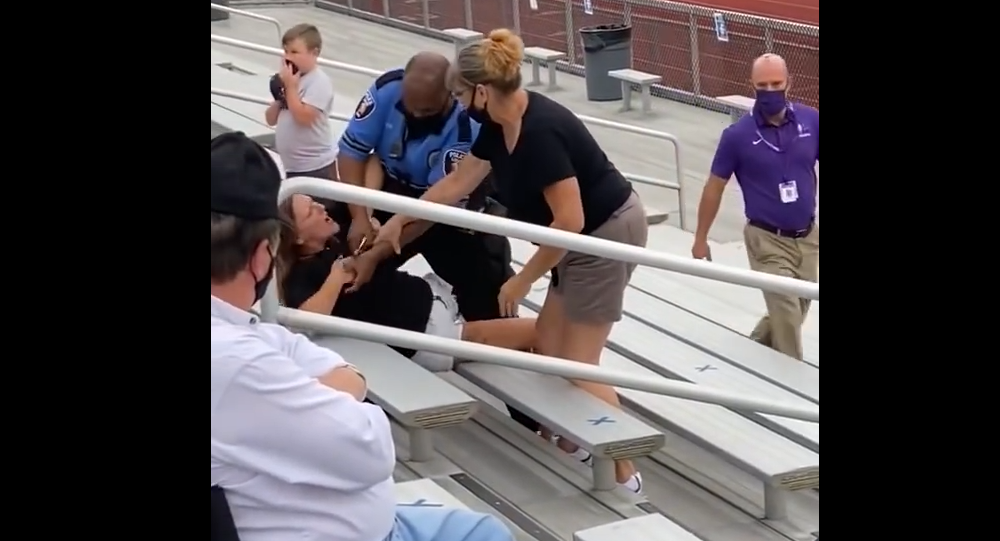 Woman Tased At Middle School Football Game After Refusing To Wear Mask