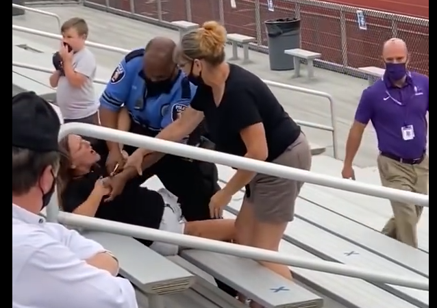 Woman Arrested at Middle School Football Game For Not Wearing a Mask