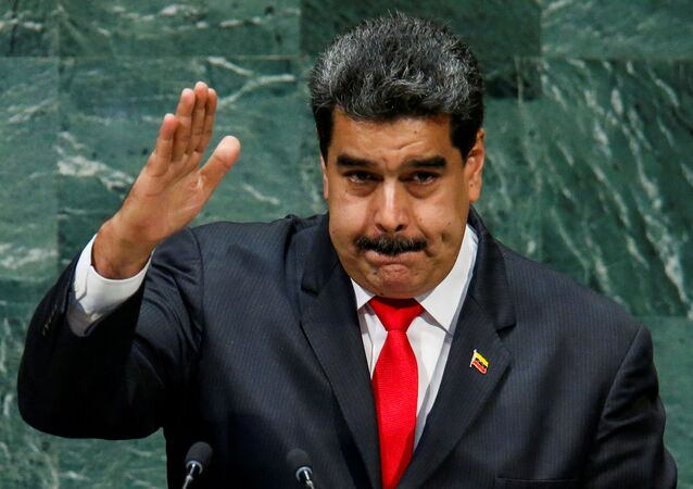 Venezuela's President Nicolas Maduro greets delegates after addressing the 73rd session of the United Nations General Assembly at U.N. headquarters in New York, U.S., September 26, 2018.