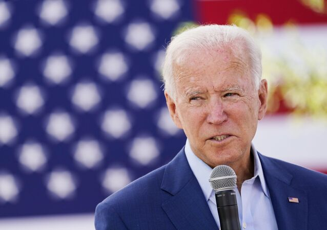 Democratic U.S. presidential nominee Joe Biden speaks to attendees at an outdoor Black Economic Summit while campaigning for president in Charlotte, North Carolina, U.S., September 23, 2020