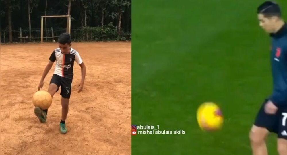 Indian Kid Nails Cristiano Ronaldo's Freestyle Skills to Perfection