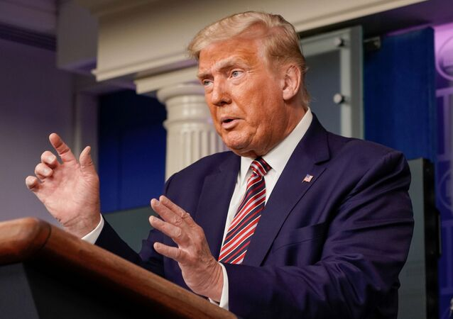U.S. President Donald Trump speaks to reporters during a news conference inside the James S. Brady Briefing Room at the White House in Washington, U.S. September 27, 2020