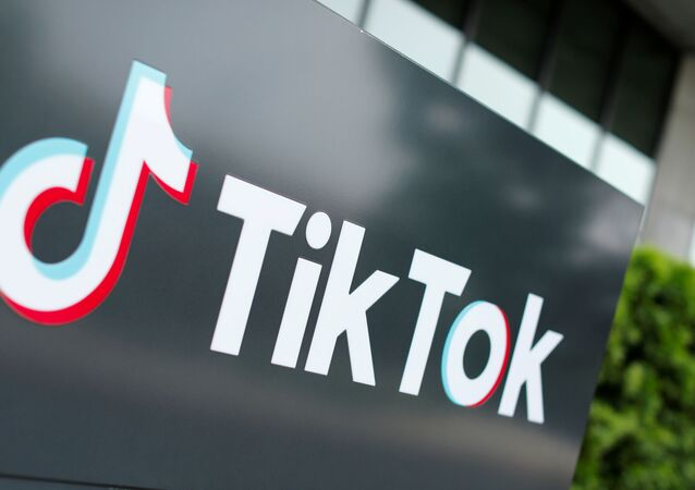 The TikTok logo is pictured outside the company's U.S. head office in Culver City, California, U.S., Sept. 15, 2020.