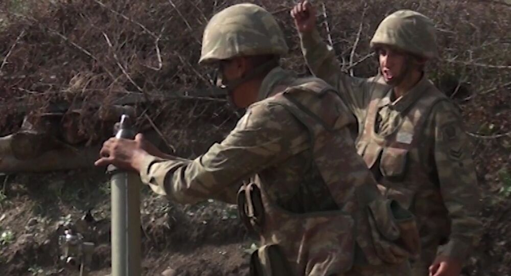 The Armed Forces of Azerbaijan are fighting in Nagorno-Karabakh