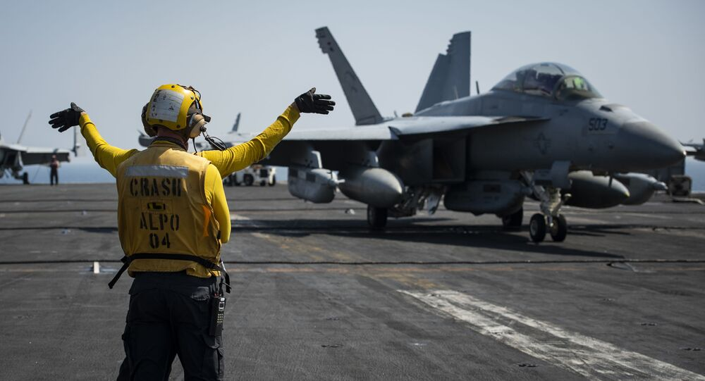 Sailors Conduct Flight Operations in Support of Operation Inherent Resolve