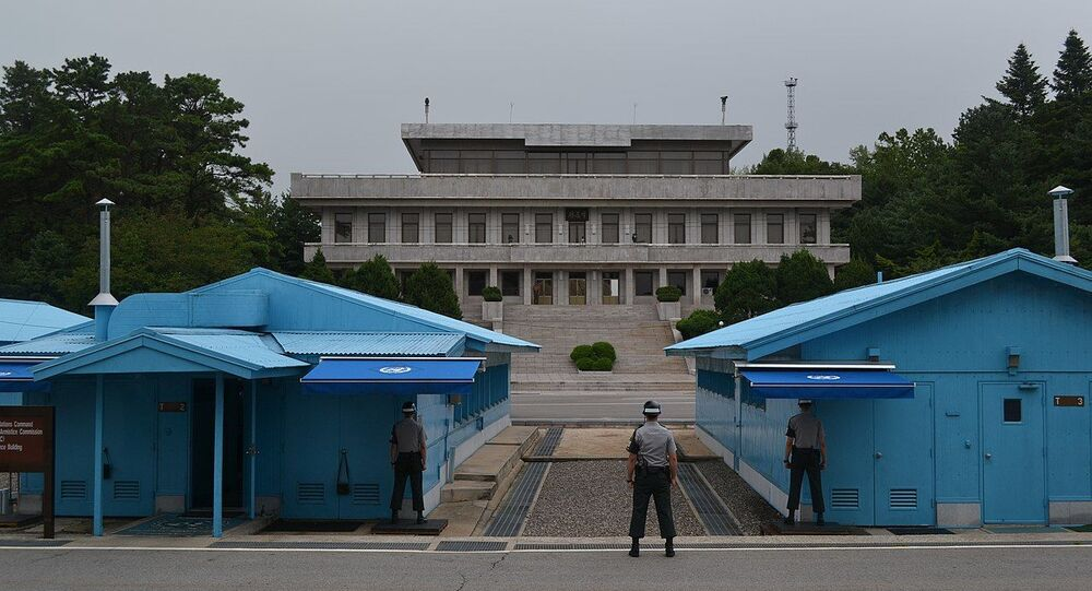 Korean Demilitarized Zone (DMZ) from the South Korean side