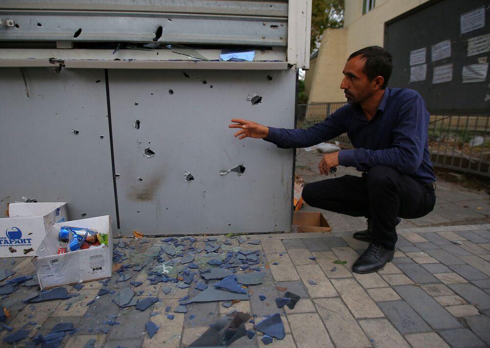 Destruction and Shrapnel in Nagorno Karabakh After Large-Scale Hostilities in the Region