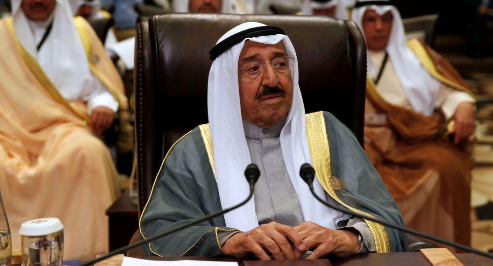FILE PHOTO: Emir of Kuwait Sabah Al-Ahmad Al-Jaber Al-Sabah attends the 28th Ordinary Summit of the Arab League at the Dead Sea, Jordan March 29, 2017