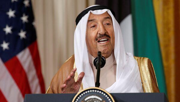 FILE PHOTO: Kuwait's Emir Sheikh Sabah Al-Ahmad Al-Jaber Al-Sabah  addresses a joint news conference with U.S. President Donald Trump in the East Room of the White House in Washington, U.S., September 7, 2017 - Sputnik International