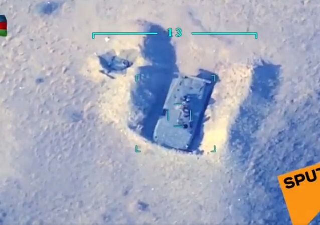 Azerbaijani Defence Ministry shares a video of Armenian Armed Forces military equipment being destroyed this morning
